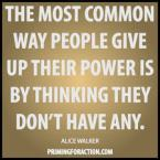 give up power