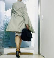 Woman Leaving